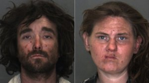 Roy Ling and Sara Wilson are shown in photos released by the Victorville Police Department on Feb. 21, 2018.