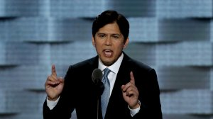 California State Senator Kevin de Leon delivers a speech on the first day of the Democratic National Convention at the Wells Fargo Center, July 25, 2016, in Philadelphia, Penn. (Credit: Alex Wong/Getty Images)