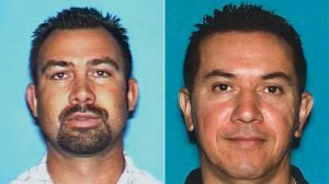 Reuben Gutierrez, left, and Wilfrido Rodriguez are seen in driver's license photos released Feb. 2, 2016, by the Los Angeles County Sheriff's Department.