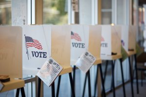 Voting booths are seen in a file photo. (Credit: iStock / Getty Images Plus)