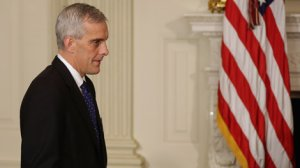 Denis McDonough arrives for the announcement of Secretary of Defense Chuck Hagel's resignation at the White House on Nov. 24, 2014 in Washington, D.C. (Credit: Chip Somodevilla/Getty Images)