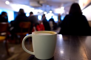 A venti sized caramel latte from Starbucks is shown in a file photo. (Credit: Ben Pruchnie/Getty Images)