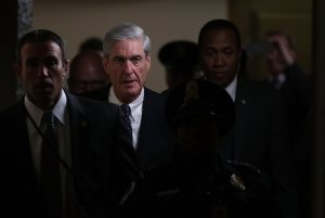Special counsel Robert Mueller leaves after a closed meeting with members of the Senate Judiciary Committee June 21, 2017, at the Capitol in Washington, D.C. (Credit: Alex Wong/Getty Images)