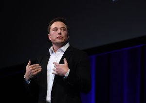 SpaceX CEO Elon Musk speaks at the International Astronautical Congress on Sept. 29, 2017, in Adelaide, Australia. (Credit: Mark Brake / Getty Images)