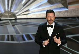 Comedian Jimmy Kimmel delivers a speech during the opening of the 90th Annual Academy Awards show on March 4, 2018, in Hollywood. (Credit: MARK RALSTON/AFP/Getty Images)