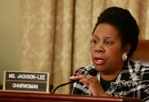 Rep. Sheila Jackson-Lee, D-TX, speaks during a House Homeland Security Committee hearing on Capitol Hill on Dec. 16, 2009 in Washington, D.C. (Credit: Mark Wilson/Getty Images)