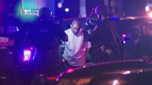 A man in taken into custody following a triple shooting in Inglewood on March 20, 2018. (Credit: KTLA)