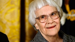 """Pulitzer Prize winner and """"To Kill A Mockingbird"""" author Harper Lee smiles before receiving the 2007 Presidential Medal of Freedom in the East Room of the White House Nov. 5, 2007, in Washington, D.C. (Credit: Chip Somodevilla/Getty Images)"""