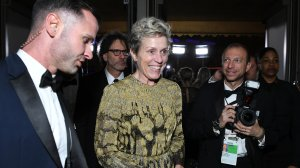 Frances McDormand attends the 90th Annual Academy Awards Governors Ball at the Hollywood & Highland Center on March 4, 2018. (Credit: ANGELA WEISS/AFP/Getty Images)