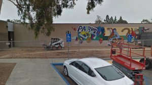 The campus of D. Russell Parks Jr. High School in Fullerton is seen here. (Credit: Google Maps)