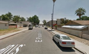 The 1300 block of East Pasadena Street is shown in a Street View image from Google Maps.