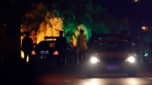 A convoy is seen at a Beijing guesthouse where North Korean leaders have previously stayed. (Credit: Ng Han / AP via CNN)