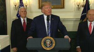 Donald Trump speaks on March 23, 2018. (Credit: CNN)