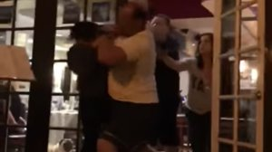 A video posted on YouTube shows a security guard throwing out a patron at a Newport Beach restaurant on April 13, 2018.