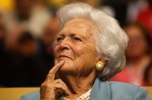 Former first lady Barbara Bush attends day two of the Republican National Convention in St. Paul, Minnesota, on Sept. 2, 2008. (Credit: Scott Olson / Getty Images)