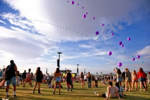 Festivalgoers attend the 2018 Coachella Valley Music and Arts Festival Weekend 1 at the Empire Polo Field on April 15, 2018 in Indio. (Credit: Rich Fury/Getty Images for Coachella)