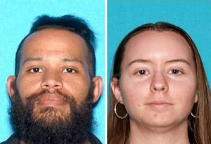 Jovan Webb, left, and Haley Mercier are seen in driver's license photos released by the Los Angeles County Sheriff's Department on April 26, 2018.