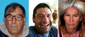 From left, Jose Lara Paez, Cuauhtemoc Lara and Julieta Arvizu are seen in photos released April 21, 2018, by the Los Angeles County Sheriff's Department.