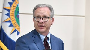 Nashville Mayor David Briley speaks at a press conference discussing the shooting at a Waffle House where a gunman opened fire, killing four and injuring two on April 22, 2018 in Nashville, Tenn. (Credit: Jason Davis/Getty Images)