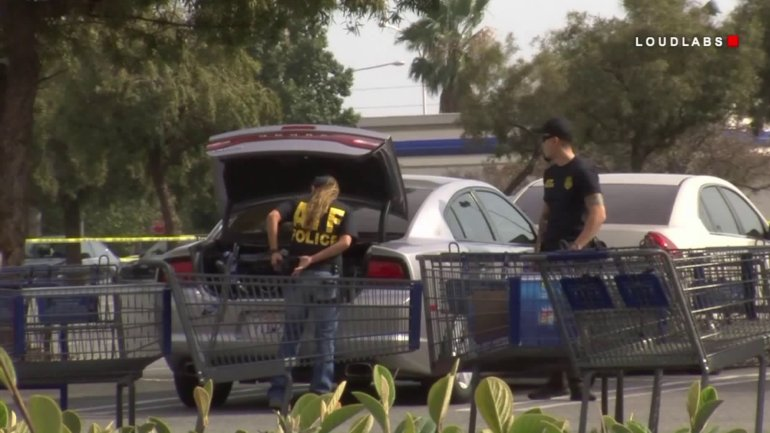 Officials investigate after a small explosive devise was detonated inside an Ontario Sam's Club on April 5, 2018. (Credit: LOUDLABS)