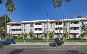 The Playa Pacifica Apartments, on the 400 block of Herondo Street in Hermosa Beach, are seen in a Google Maps Street View image from November 2017.