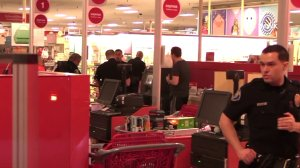 Police investigate the scene at a target store where an ATM was burglarized in Orange County on April 24, 2018. (Credit: OC Hawk)