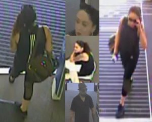 A man and a woman burglary suspect are shown in a photo released by the El Segundo Police Department on May 3, 2018.