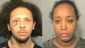Jonathan Allen, 29, and Ina Rogers, 30, are seen in booking photos released by the Solano County Sheriff's Office.