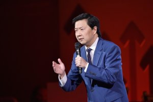 Actor Ken Jeong speaks onstage during Stand Up To Cancer's New York Standing Room Only on April 9, 2016 in New York City. (Credit: Mike Coppola/Getty Images for EIF)