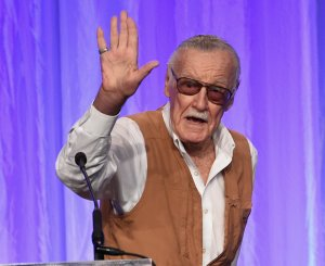 Stan Lee speaks onstage at the Hollywood Foreign Press Association's Grants Banquet at the Beverly Wilshire Four Seasons Hotel on August 2, 2017 in Beverly Hills, California. (Credit: Kevin Winter/Getty Images)