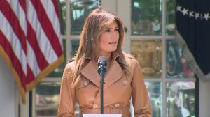 Melania Trump speaks at the White House as the first lady formally unveiled her platform on May 7, 2018. (Credit: Pool)