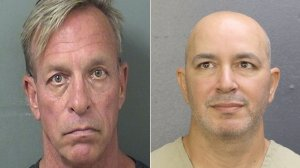 Thomas Keesee (left) and Sahar Sarid (right) are shown in photos released by the Palm Beach County and Broward Sheriff's offices on May 16, 2018.
