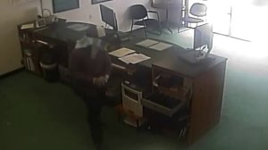 A man can be seen in a video released by the Fullerton Police Department on May 15, 2018.