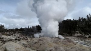 Yellowstone National Park's Steamboat Geyser just erupted for the third time in two months, and scientists aren't sure why. (Credit: Behnaz Hosseini/USGS/National Park Service)
