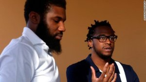 Donte Robinson and Rashon Nelson are seen in this undated photo. (Credit: Jacqueline Larma/AP/CNN)
