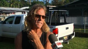 Steve Gebbie, 56, is among the hundreds of people forced from their homes on the Big Island after the Kilauea volcano erupted on May 3, 2018. (Credit: CNN)