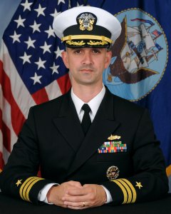 Navy Cmdr. Alfredo Sanchez is seen in his U.S. Navy portrait.