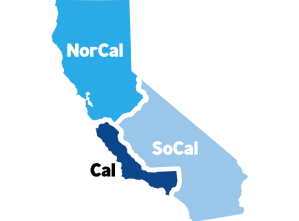 An illustration from Cal 3's website depicts the campaign's proposed split of California.