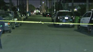 An investigation is underway Monday after a man died in police custody in South Los Angeles the day before. (Credit: KTLA)