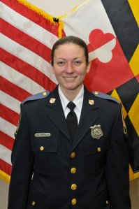 Baltimore County police Officer Amy Caprio is seen in an image posted to the department's Facebook page.