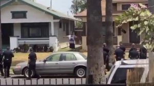 Part of the encounter between the man and LAPD was caught on cellphone video.