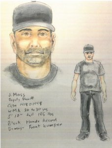 The Yucaipa Police Department released a sketch on June 15, 2018, of a man wanted on suspicion of exposing himself in May to girls in Yucaipa and Beaumont.