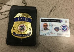 The U.S. Attorney's Office provided this image of a badge and identification card used by Farad Bell during an encounter with police and a teenager in Ventura on Dec. 2, 2017.