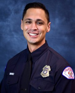 Long Beach firefighter Ernesto Torres is seen in a photo released on June 25, 2018, by the Long Beach Fire Department.