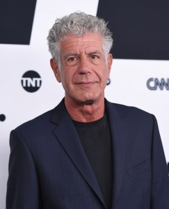 Anthony Bourdain attends the Turner Upfront 2017 at The Theater at Madison Square Garden on May 17, 2017 in New York City. (Credit: Angela Weiss/AFP/Getty Images)