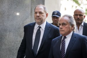 Harvey Weinstein and attorney Benjamin Brafman arrive at State Supreme Court, June 5, 2018 in New York City. (Credit: Drew Angerer/Getty Images)