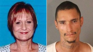 Mica Maddock, left, and Aaron Allen Aubrey, right, are seen in photos released by Riverside police.