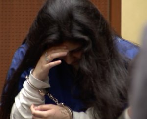 Alejandra Guerrero, shown at her sentencing hearing on July 13, 2018, was convicted Oct. 13, 2016, of murder for her role in the 2014 killing of a USC graduate student. (Credit: KTLA)