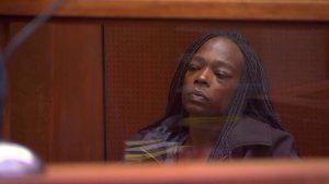 Dava Denise Webster appears in court for her arraignment on a felony child endangerment charge on July 9, 2018. (Credit: KTLA)