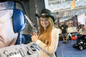 Maria Butina is seen at the NRA annual meeting in Nashville, Tennessee, in April 2015 in an image from her Facebook page. (Credit: CNN)